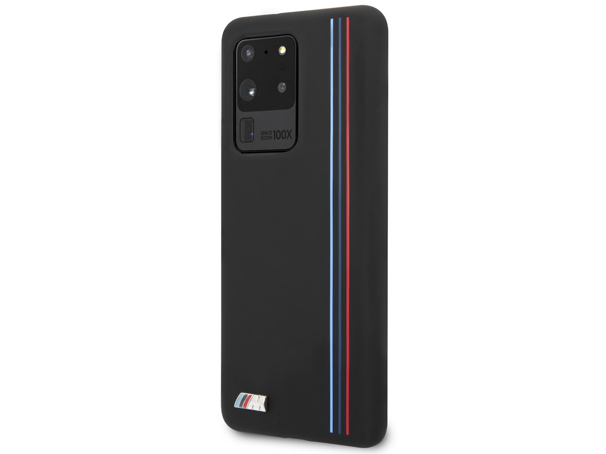 BMW M Lines Silicon Case Zwart - Samsung Galaxy S20 Ultra hoesje