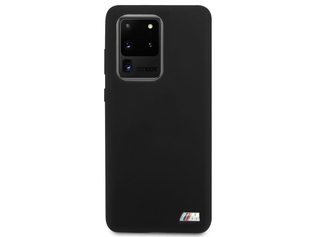BMW M Sport Silicon Case Zwart - Samsung Galaxy S20 Ultra hoesje
