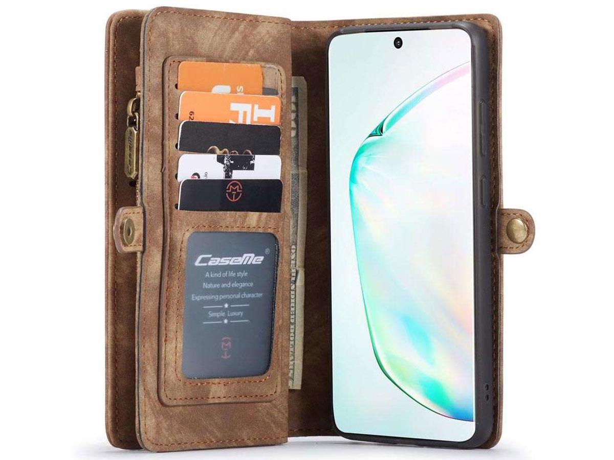 CaseMe 2in1 Wallet Ritsvak Case Bruin - Samsung Galaxy S20 Ultra Hoesje