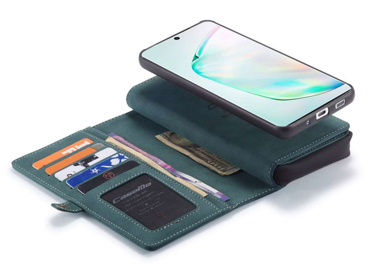 CaseMe Multi Wallet Ritsvak Case Blauw - Samsung Galaxy S20 Ultra Hoesje
