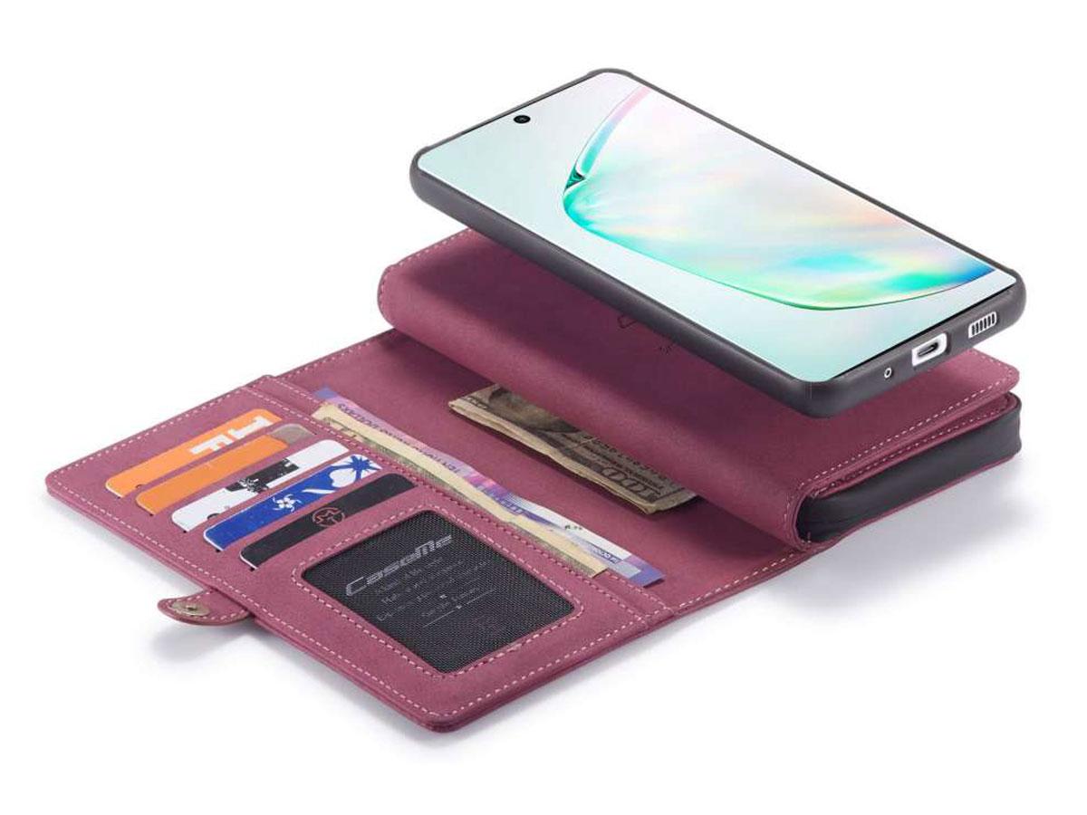 CaseMe Multi Wallet Ritsvak Case Rood - Samsung Galaxy S20 Ultra Hoesje