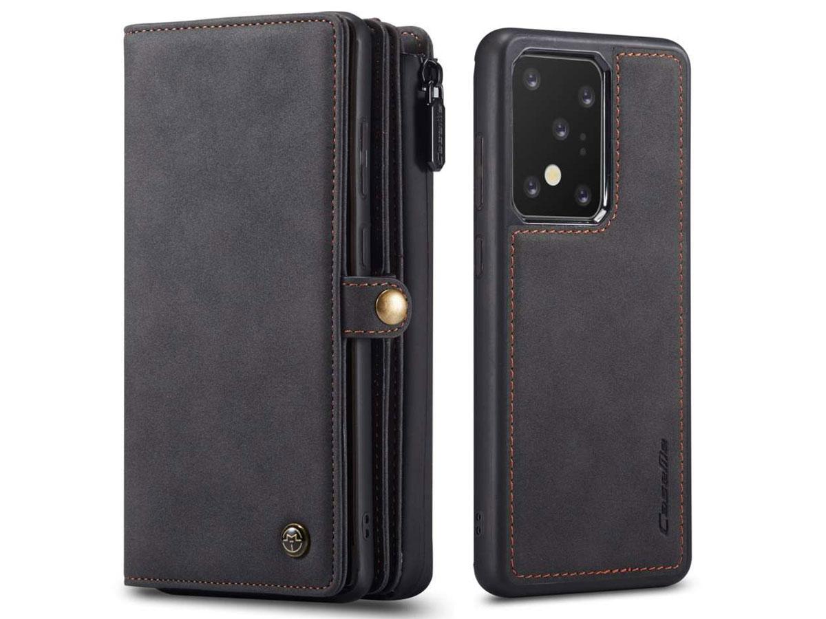 CaseMe Multi Wallet Ritsvak Case Zwart - Samsung Galaxy S20 Ultra Hoesje