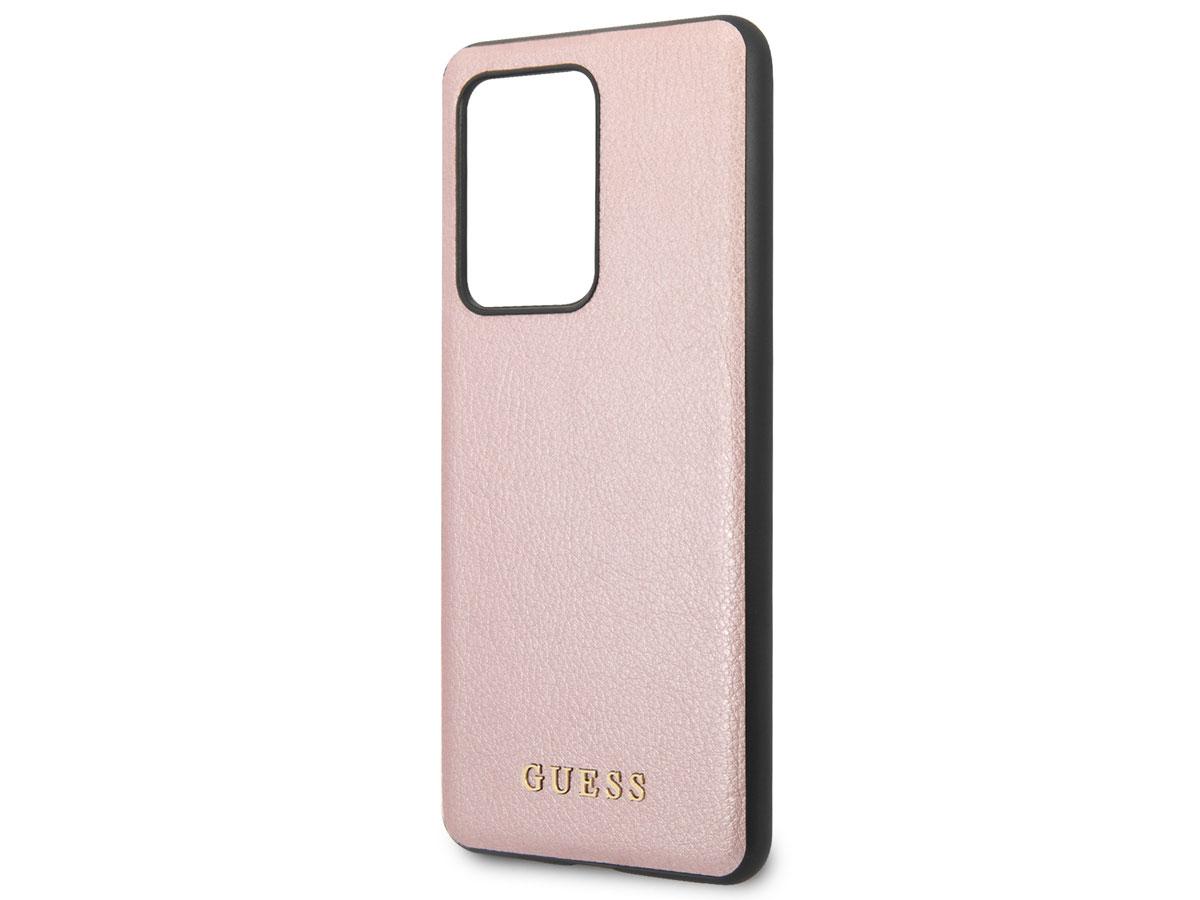 Guess Iridescent Case Rosé - Samsung Galaxy S20 Ultra hoesje