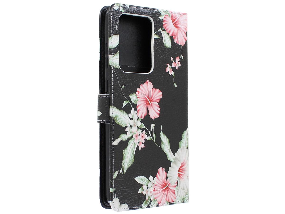 Book Case Mapje Bloemetjes - Samsung Galaxy S20 Plus hoesje