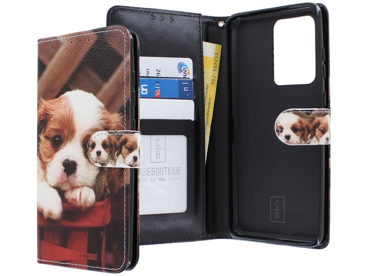 Book Case Mapje Honden Print - Samsung Galaxy S20 Ultra hoesje