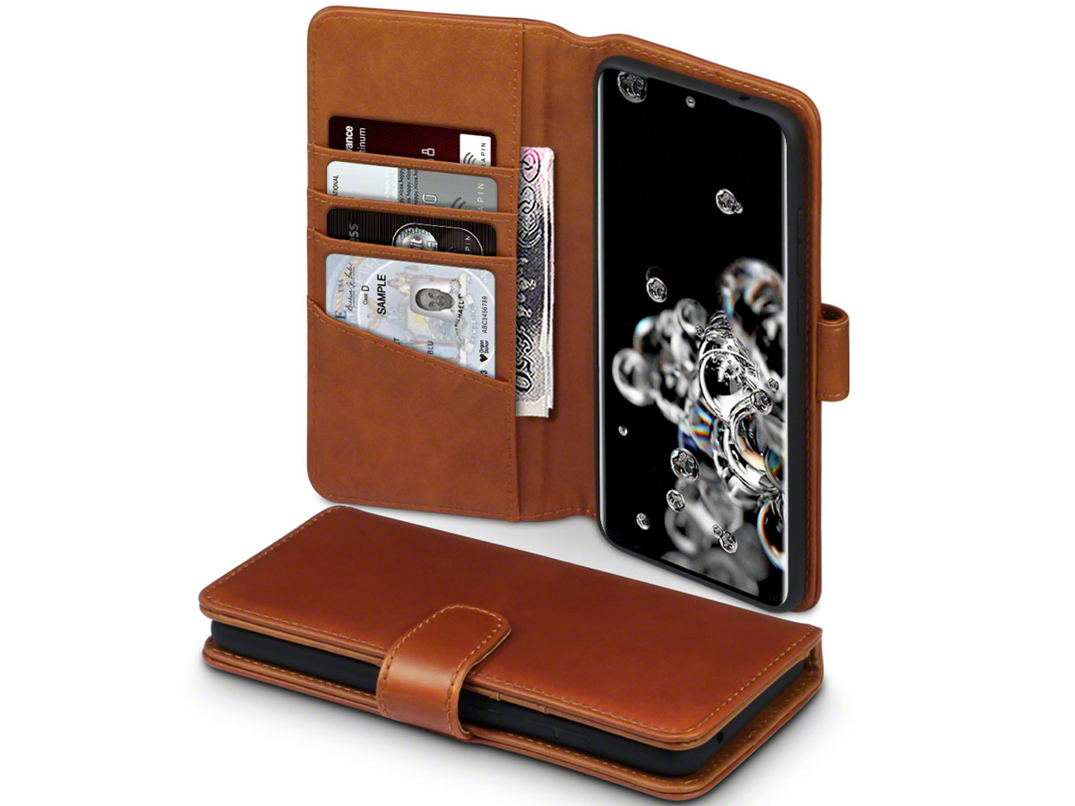 CaseBoutique Wallet Case Leer Cognac - Galaxy S20 Ultra hoesje