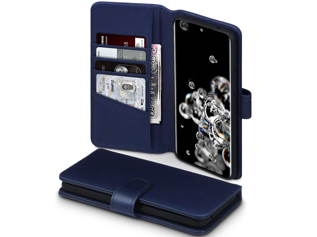 CaseBoutique Wallet Case Leer Navy - Galaxy S20 Ultra hoesje