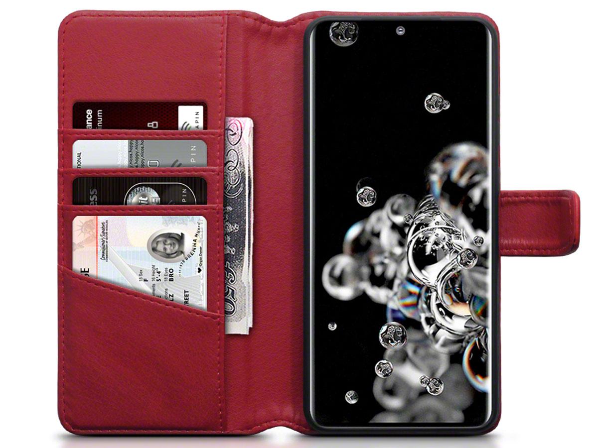 CaseBoutique Wallet Case Leer Rood - Galaxy S20 Ultra hoesje