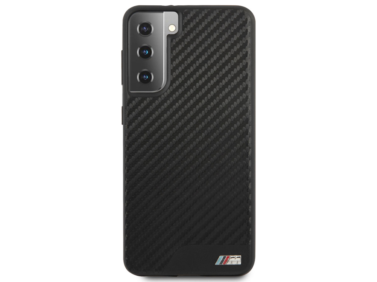BMW M Sport PU Carbon Case - Samsung Galaxy S21+ hoesje