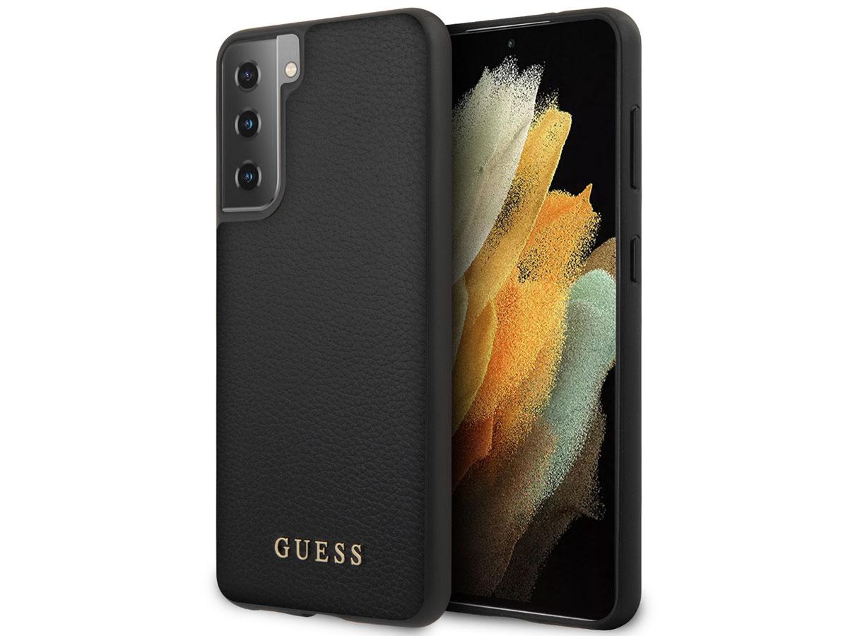 Guess Iridescent Case Zwart - Samsung Galaxy S21+ hoesje