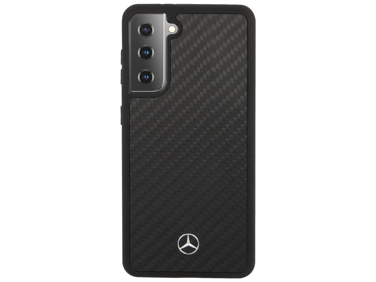 Mercedes-Benz Carbon-Fiber Case - Samsung Galaxy S21+ hoesje