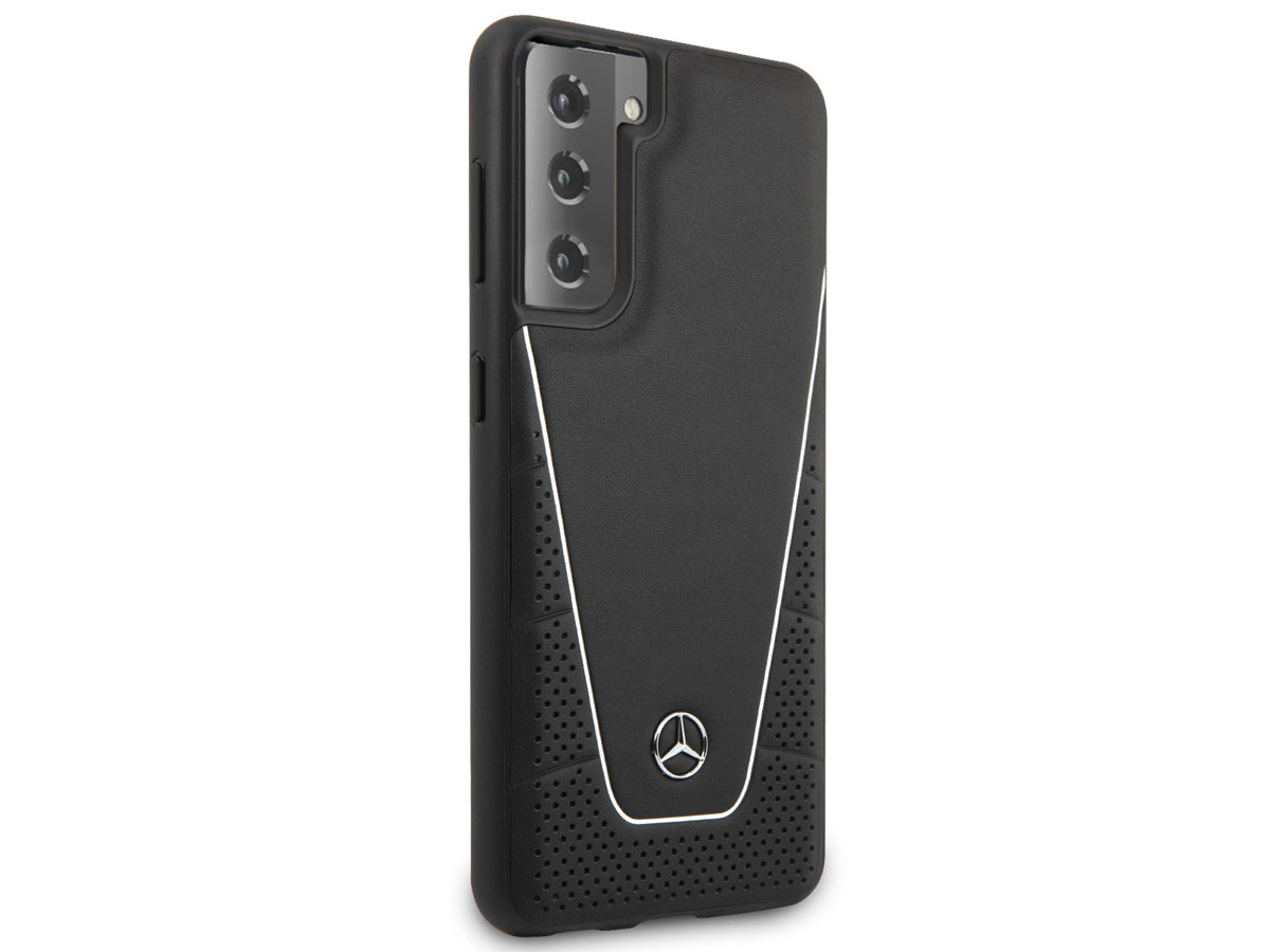 Mercedes-Benz F1 Leather Case - Samsung Galaxy S21+ hoesje