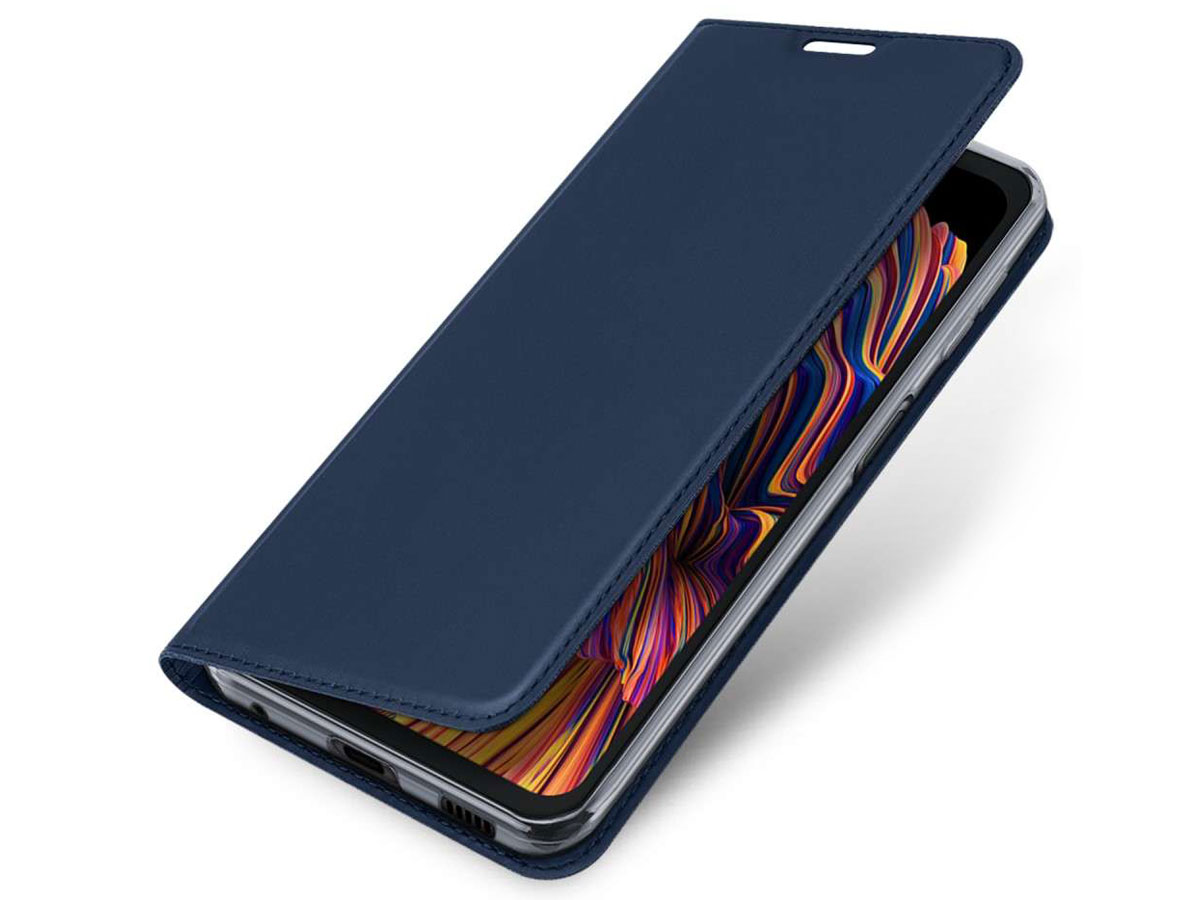 Dux Ducis Slim BookCase Donkerblauw - Samsung Galaxy Xcover Pro hoesje