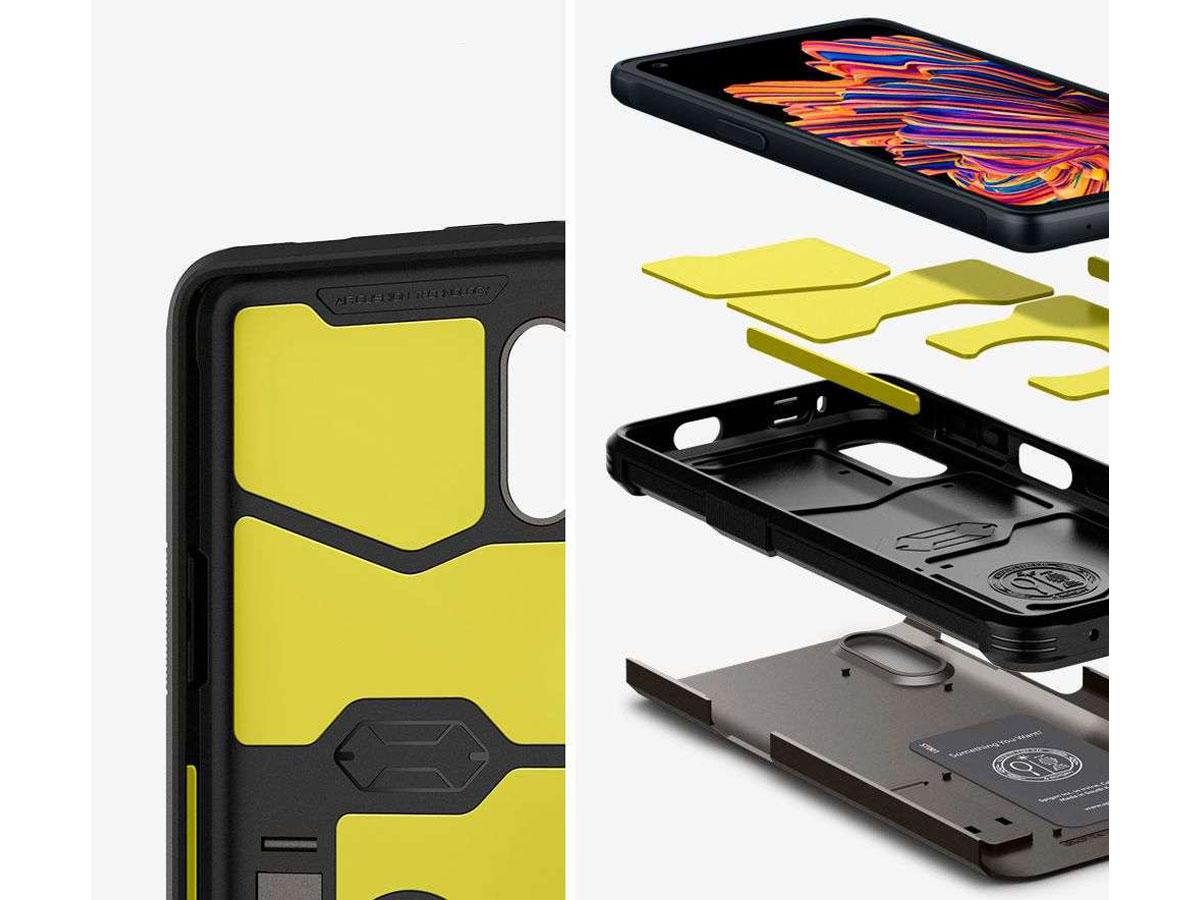 Spigen Tough Armor Case Grijs - Samsung Galaxy Xcover Pro Hoesje