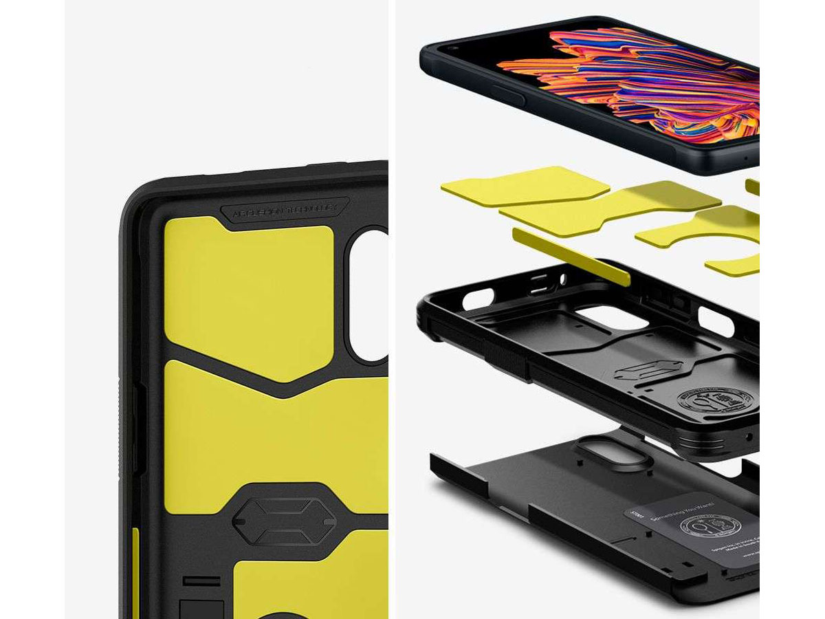 Spigen Tough Armor Case Zwart - Samsung Galaxy Xcover Pro Hoesje