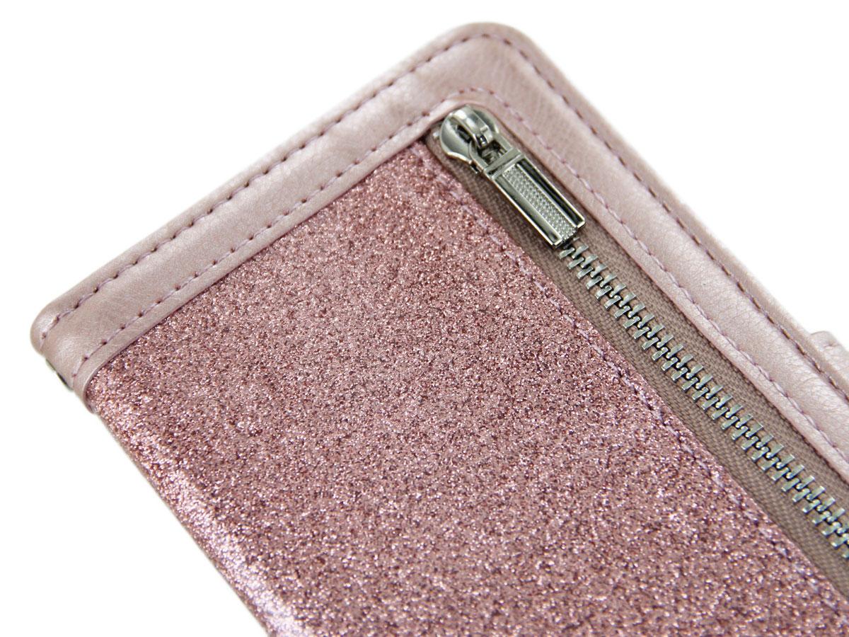 Glitsie Zip Case met Rits Rosé - Samsung Galaxy A20e hoesje