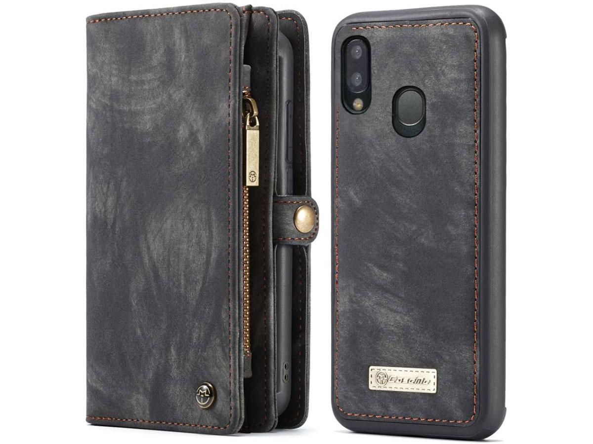 CaseMe 2in1 Wallet Ritsvak Case Zwart Samsung Galaxy A20e Hoesje
