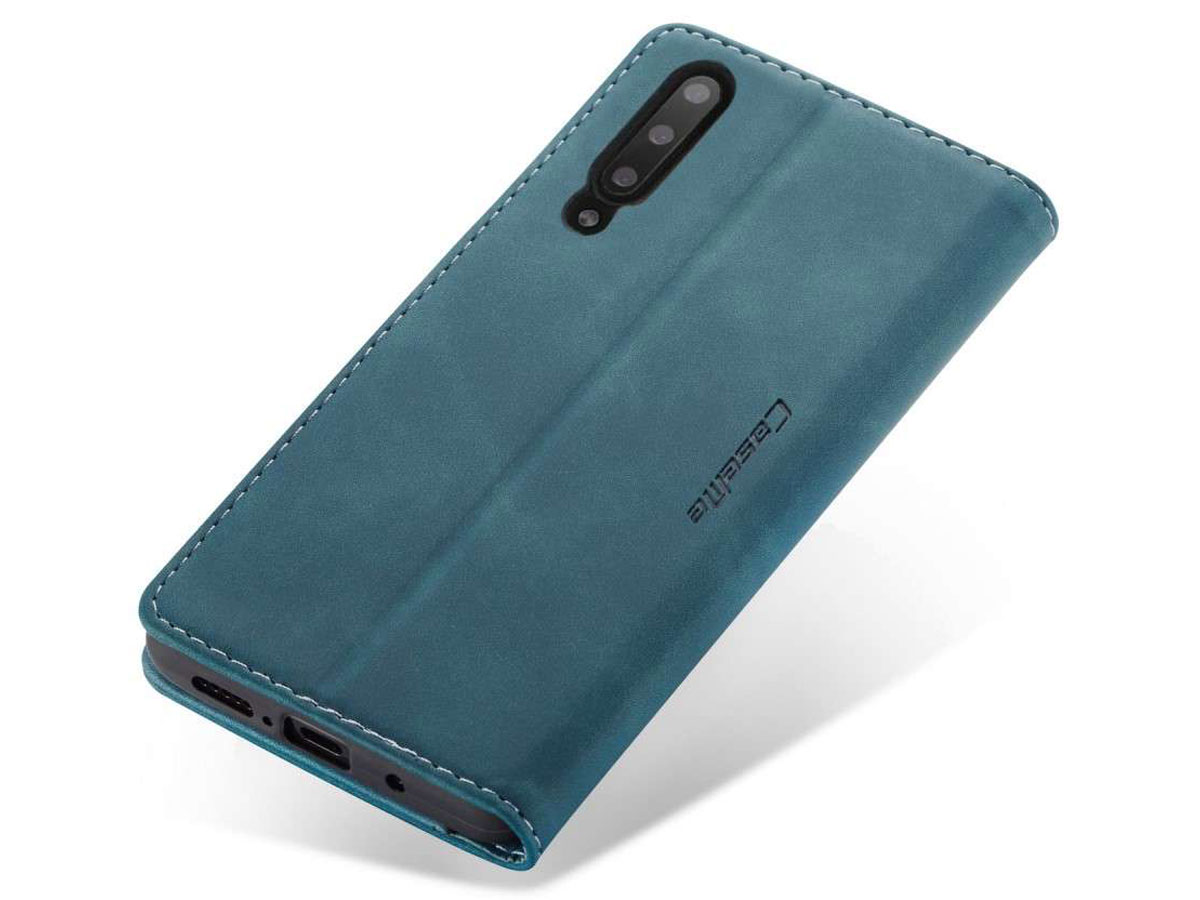 CaseMe Vintage BookCase Blauw - Samsung Galaxy A30s hoesje