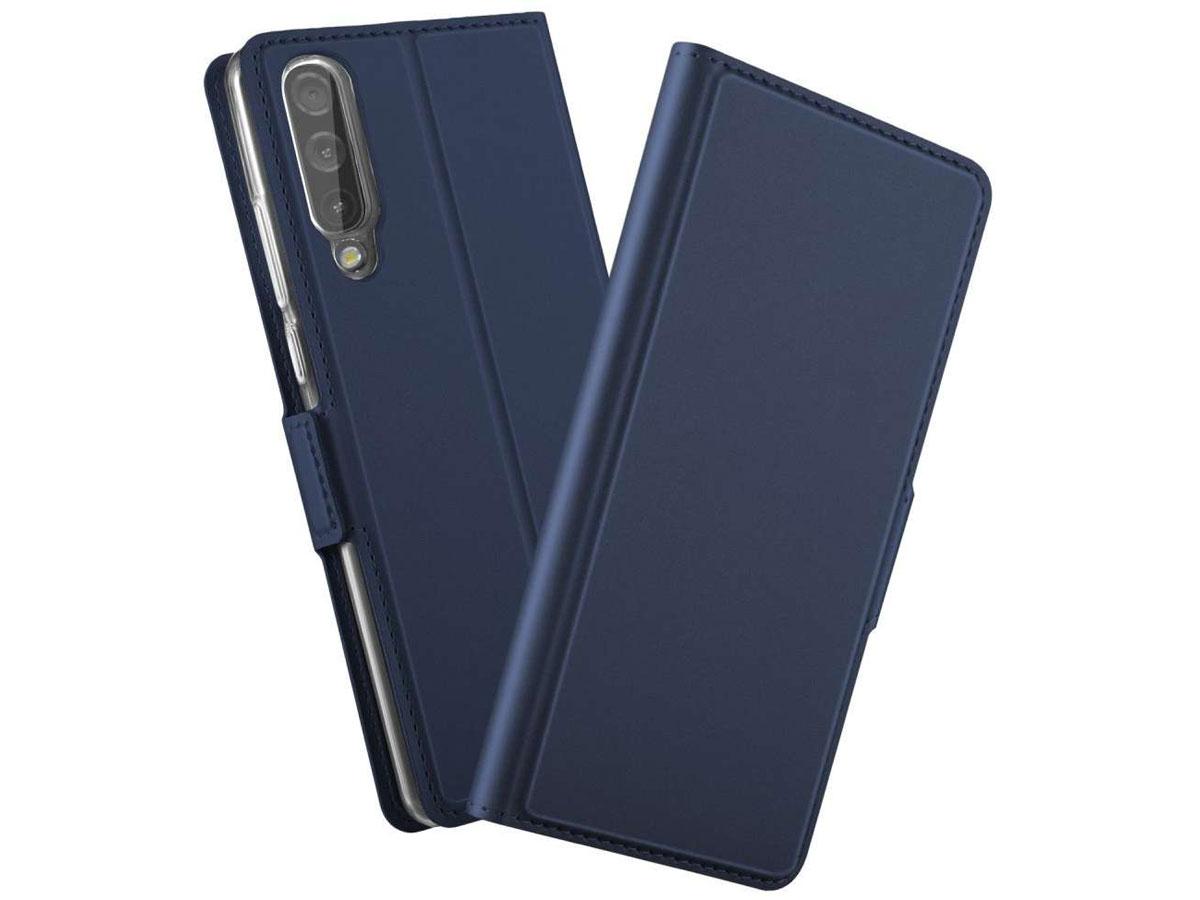 Book Case Mapje Donkerblauw - Samsung Galaxy A30s hoesje