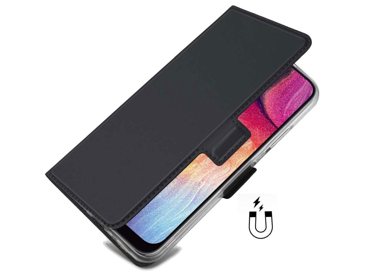 Book Case Mapje Zwart - Samsung Galaxy A30s hoesje