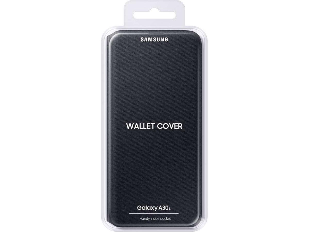 Originele Samsung Galaxy A30s Wallet Cover Hoesje Zwart