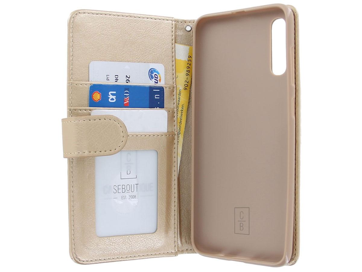 Glitsie Zip Case met Rits Goud - Samsung Galaxy A50 hoesje
