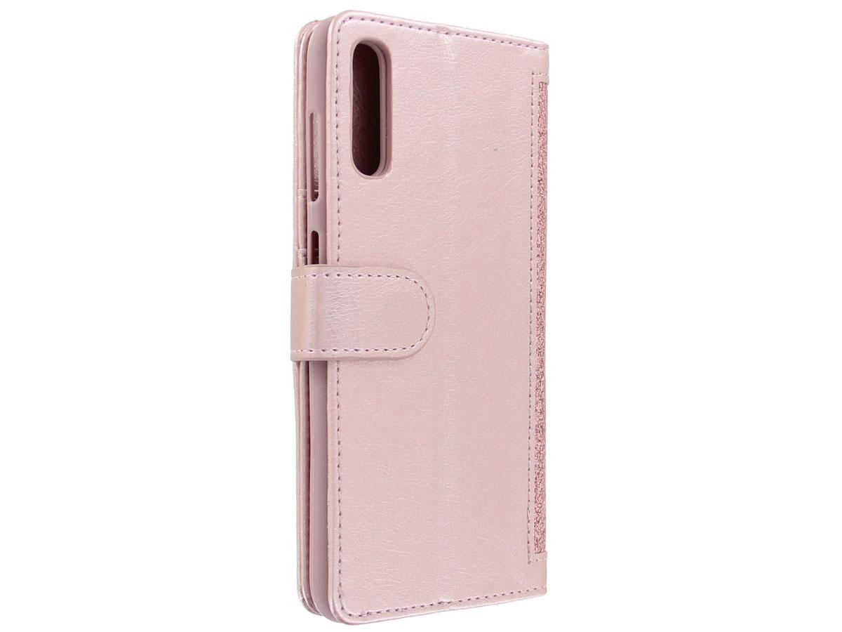 Glitsie Zip Case met Rits Rosé - Samsung Galaxy A50 hoesje