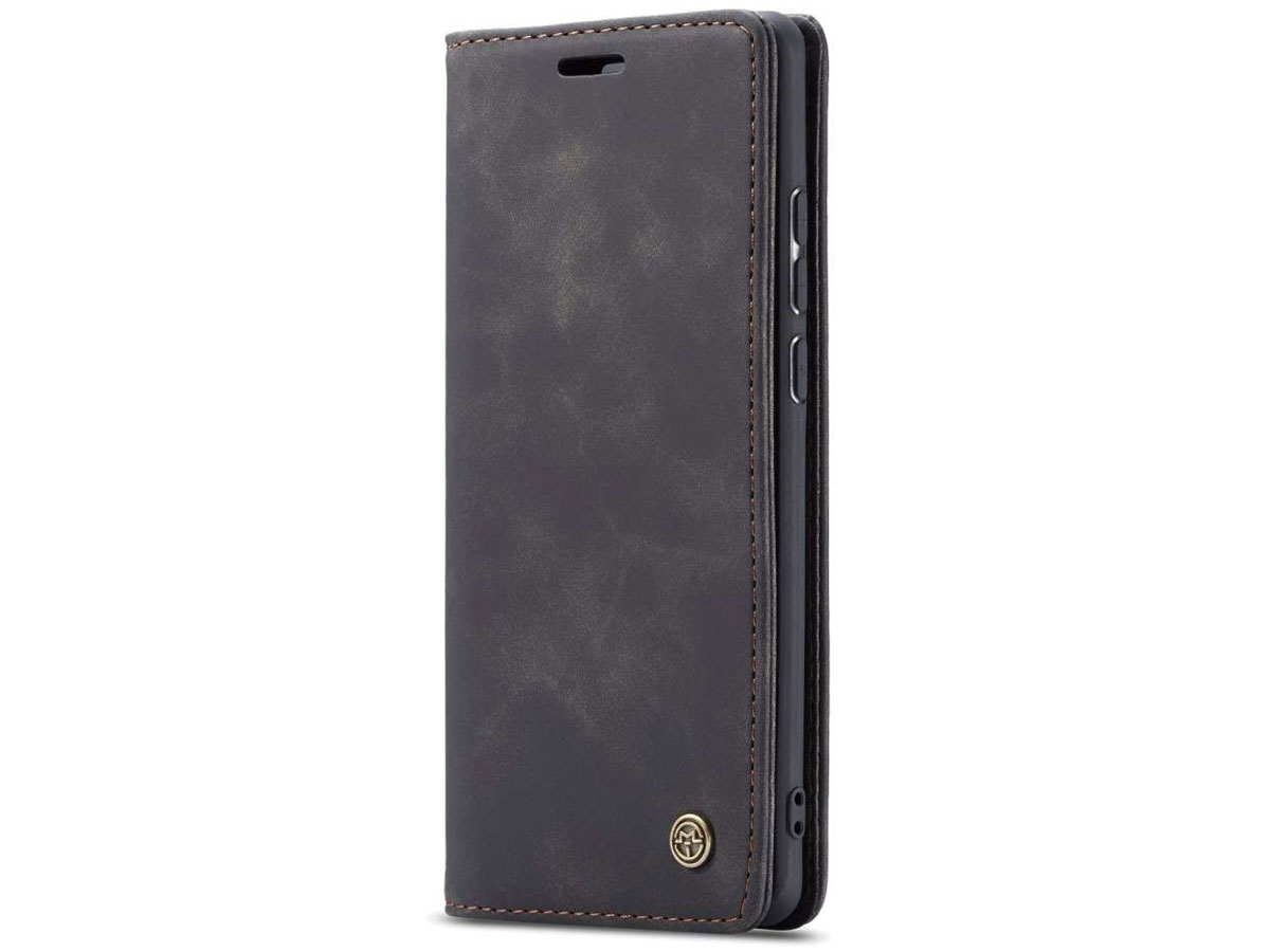 CaseMe Vintage BookCase Zwart - Samsung Galaxy A50 hoesje
