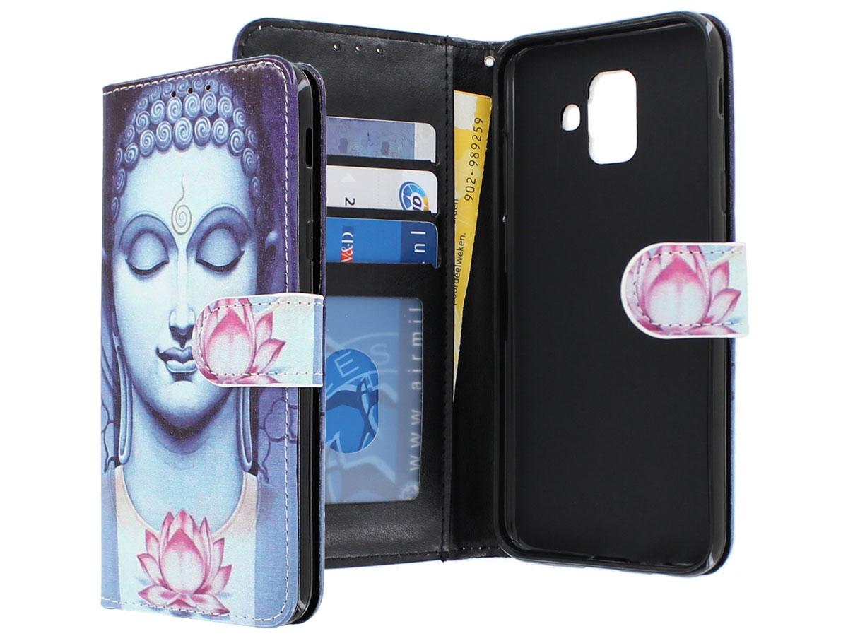 Boeddha Lily Bookcase - Samsung Galaxy A6 2018 hoesje Boeddha print