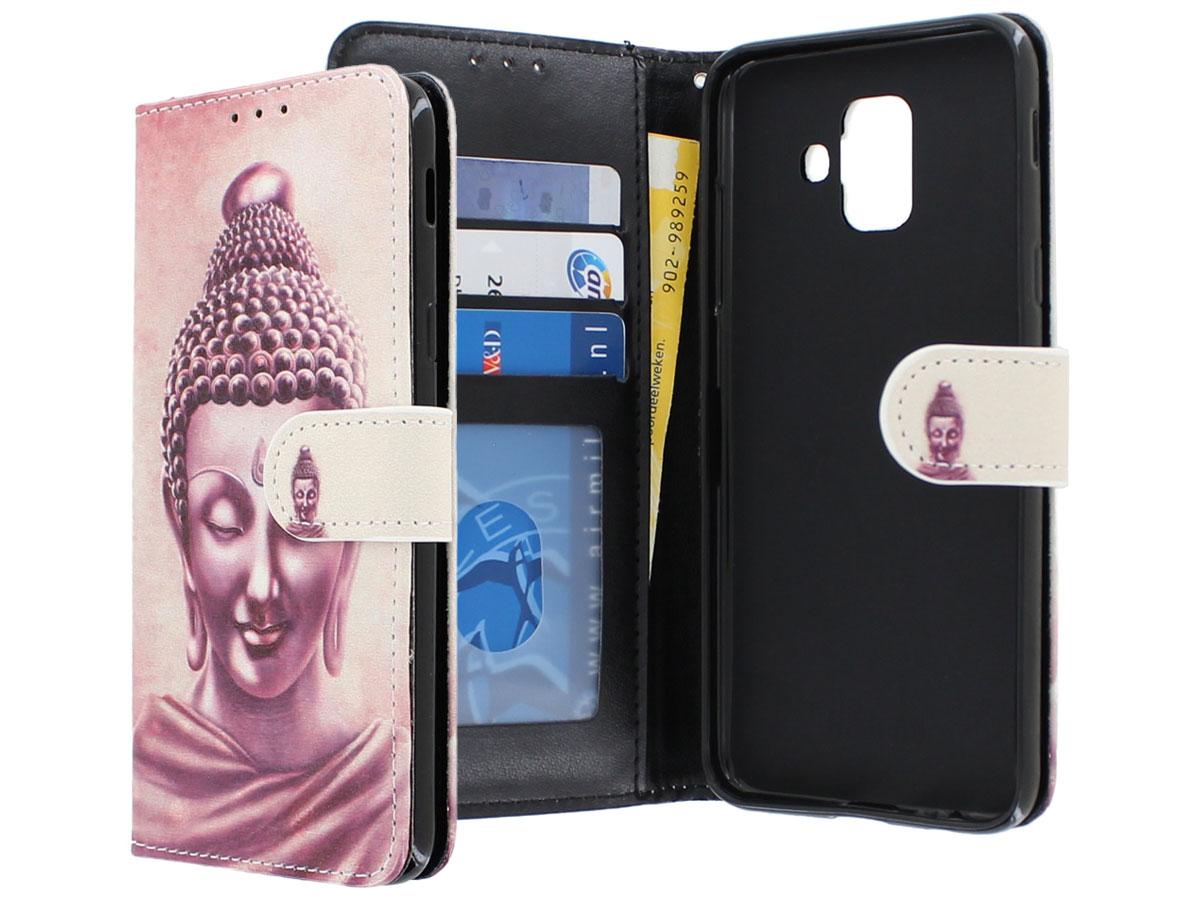 Boeddha Bookcase - Samsung Galaxy A6 2018 hoesje Boeddha print