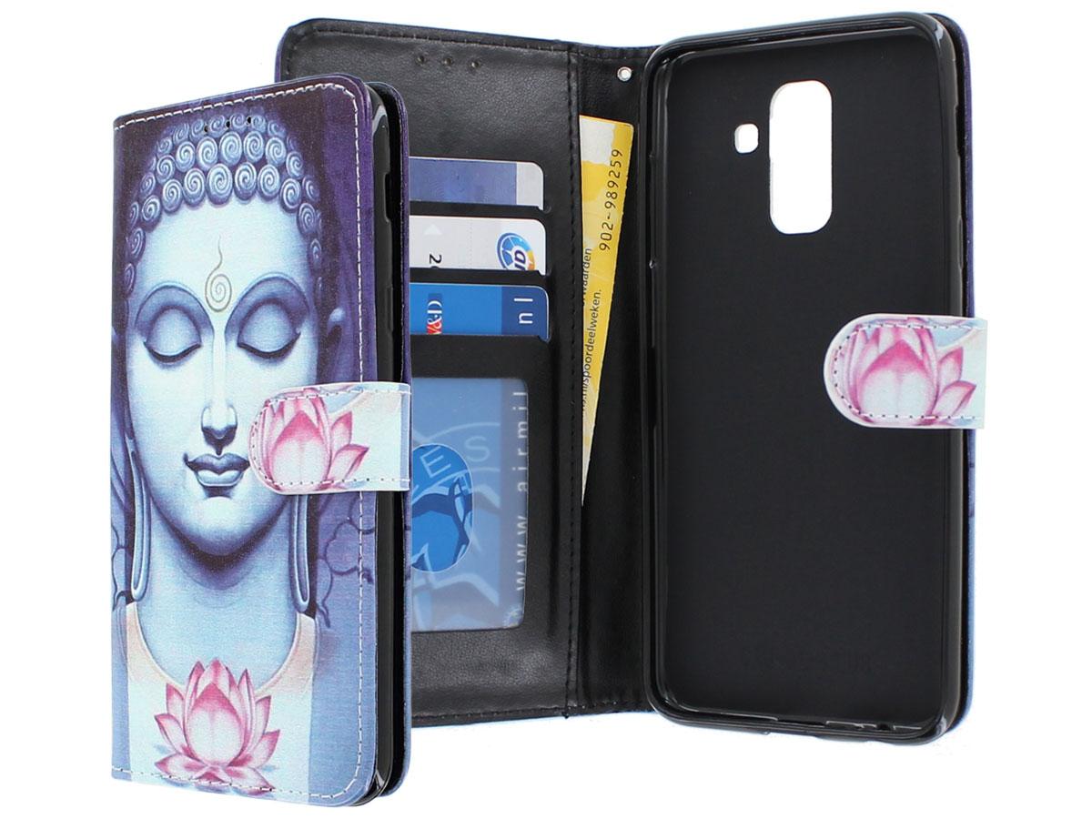 Boeddha Lily Bookcase - Samsung Galaxy A6+ 2018 hoesje Boeddha print