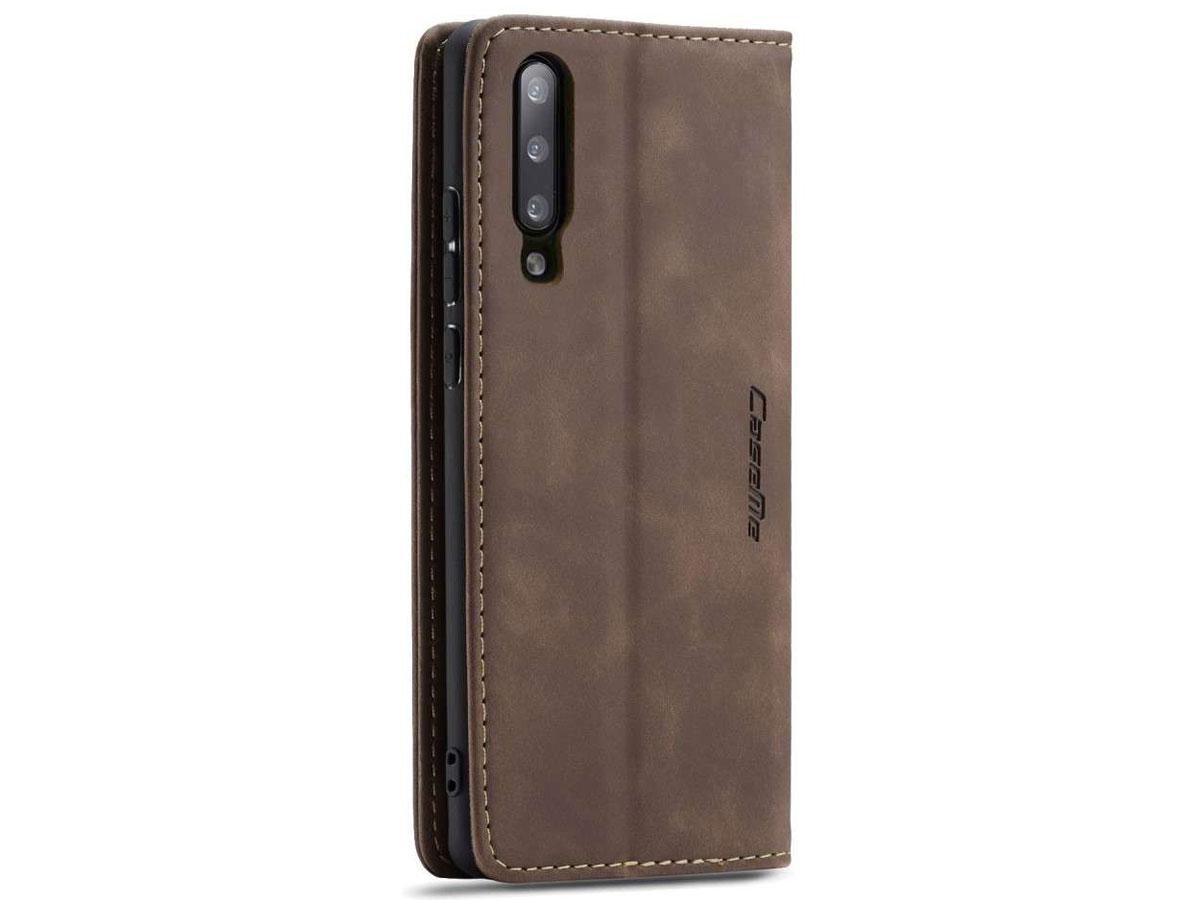 CaseMe Vintage BookCase Bruin - Samsung Galaxy A70 hoesje