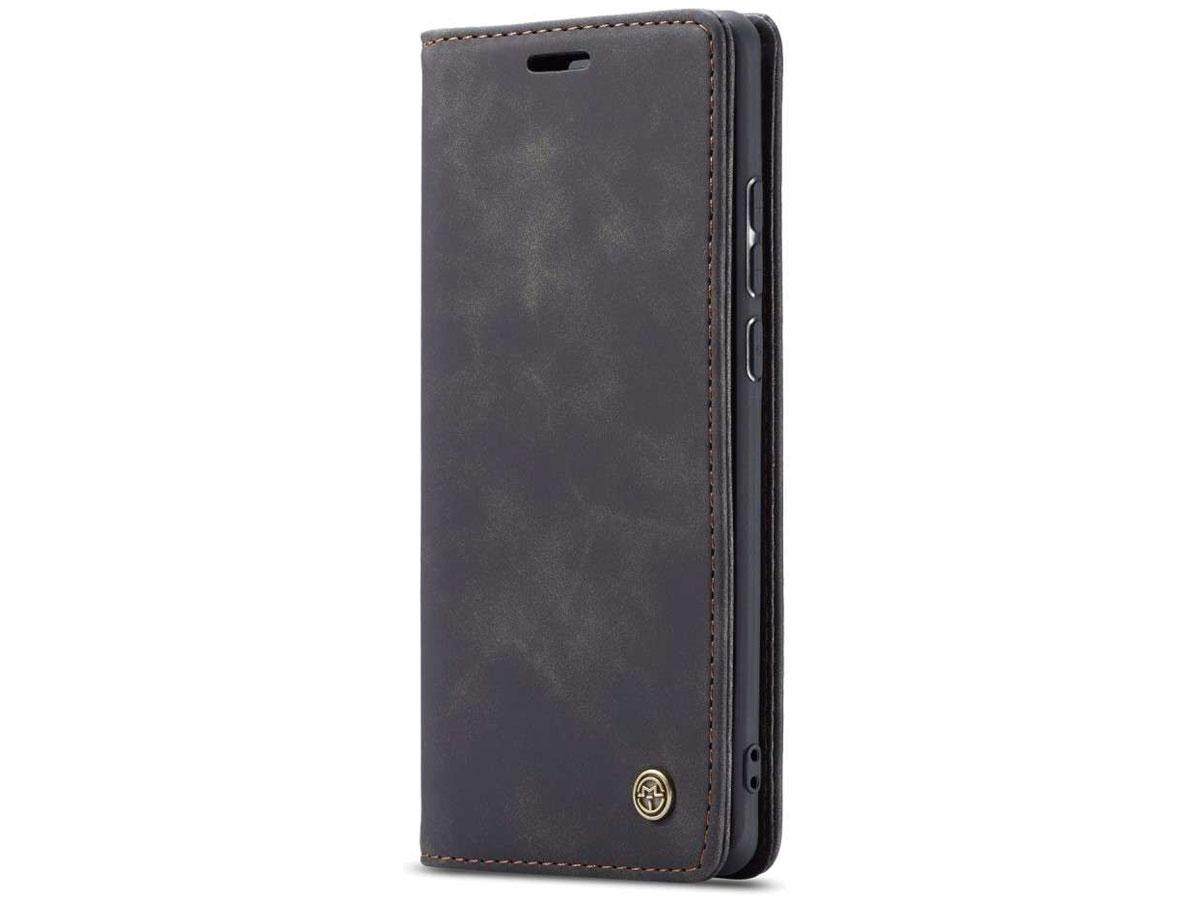 CaseMe Vintage BookCase Zwart - Samsung Galaxy A70 hoesje