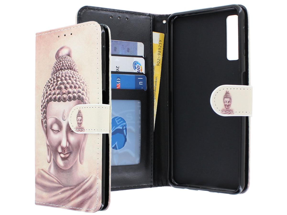 Book Case Boeddha - Samsung Galaxy A7 2018 hoesje Boeddha print