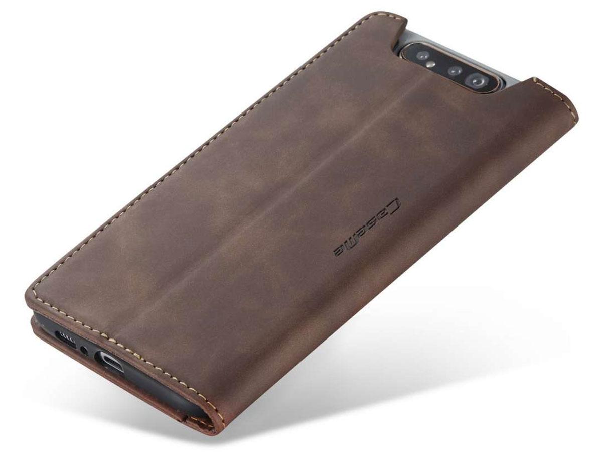 CaseMe Vintage BookCase Bruin - Samsung Galaxy A80 hoesje