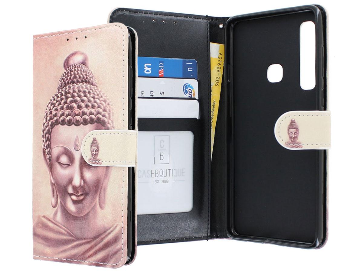 Boeddha Bookcase - Samsung Galaxy A9 2018 hoesje Boeddha print