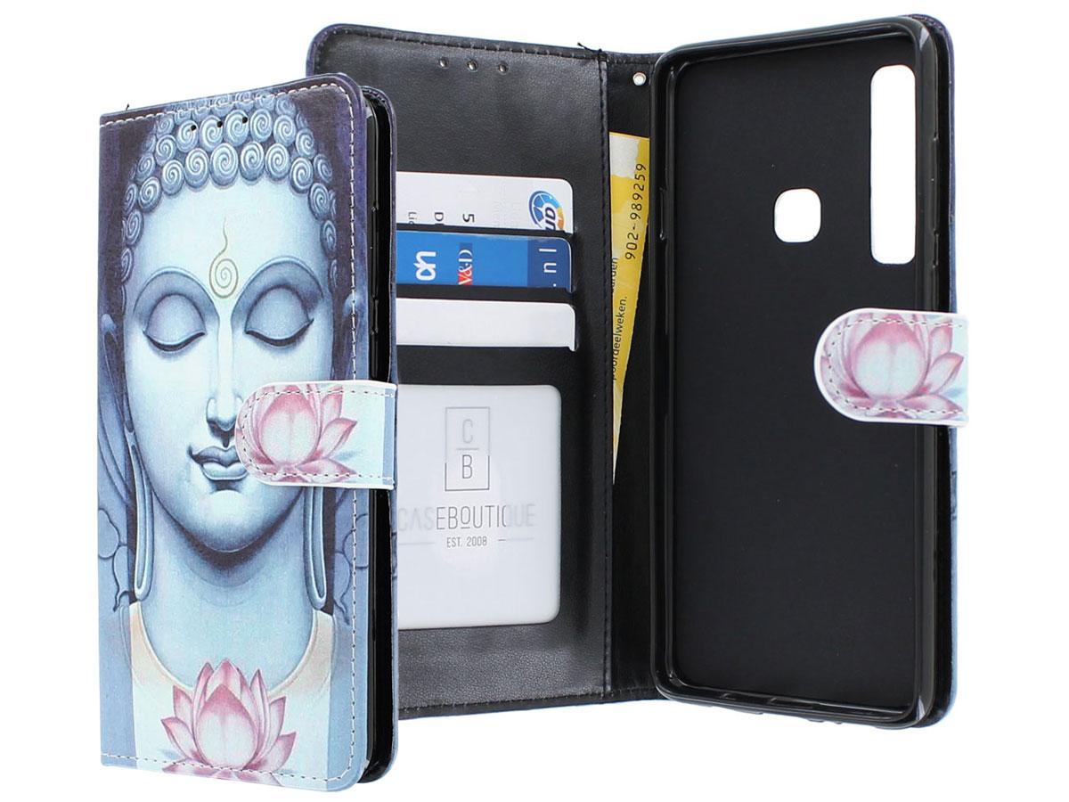 Boeddha Lily Bookcase - Samsung Galaxy A9 2018 hoesje Boeddha print