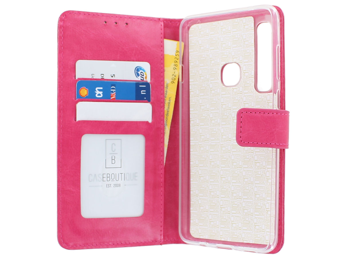 Book Case Wallet Roze - Samsung Galaxy A9 2018 hoesje