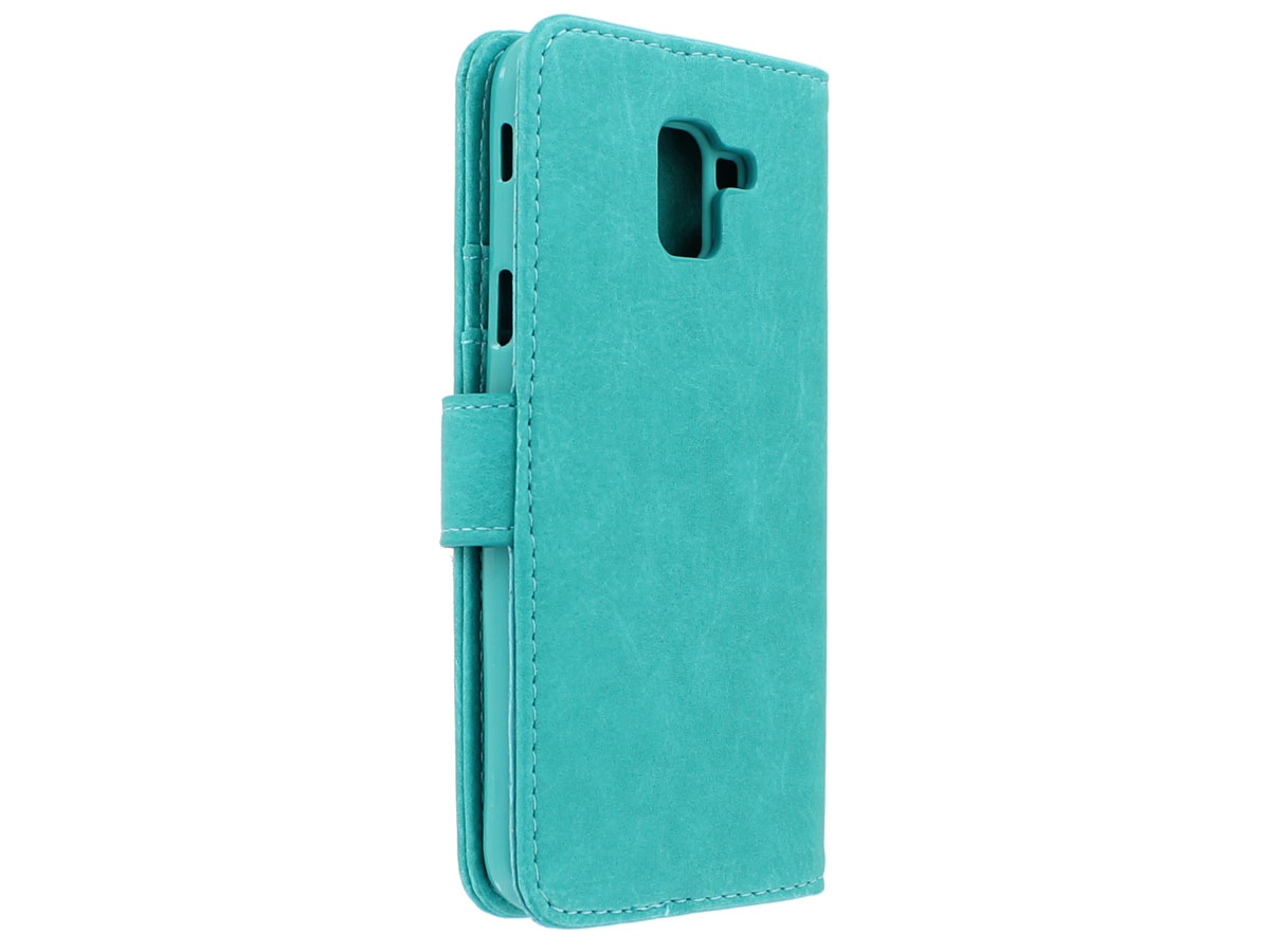 Bookcase Turquoise - Samsung Galaxy J6 2018 hoesje