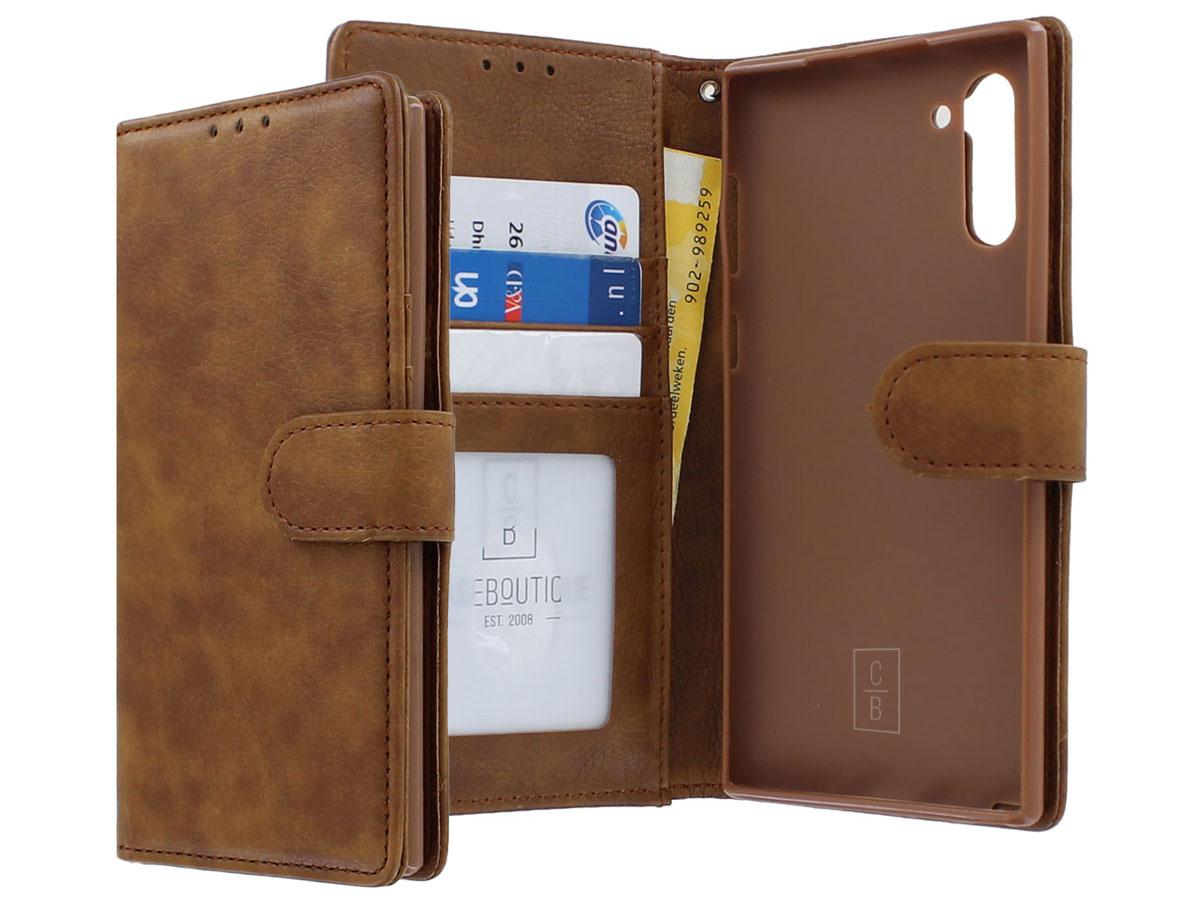 Classic Wallet BookCase Bruin - Samsung Galaxy Note 10 hoesje