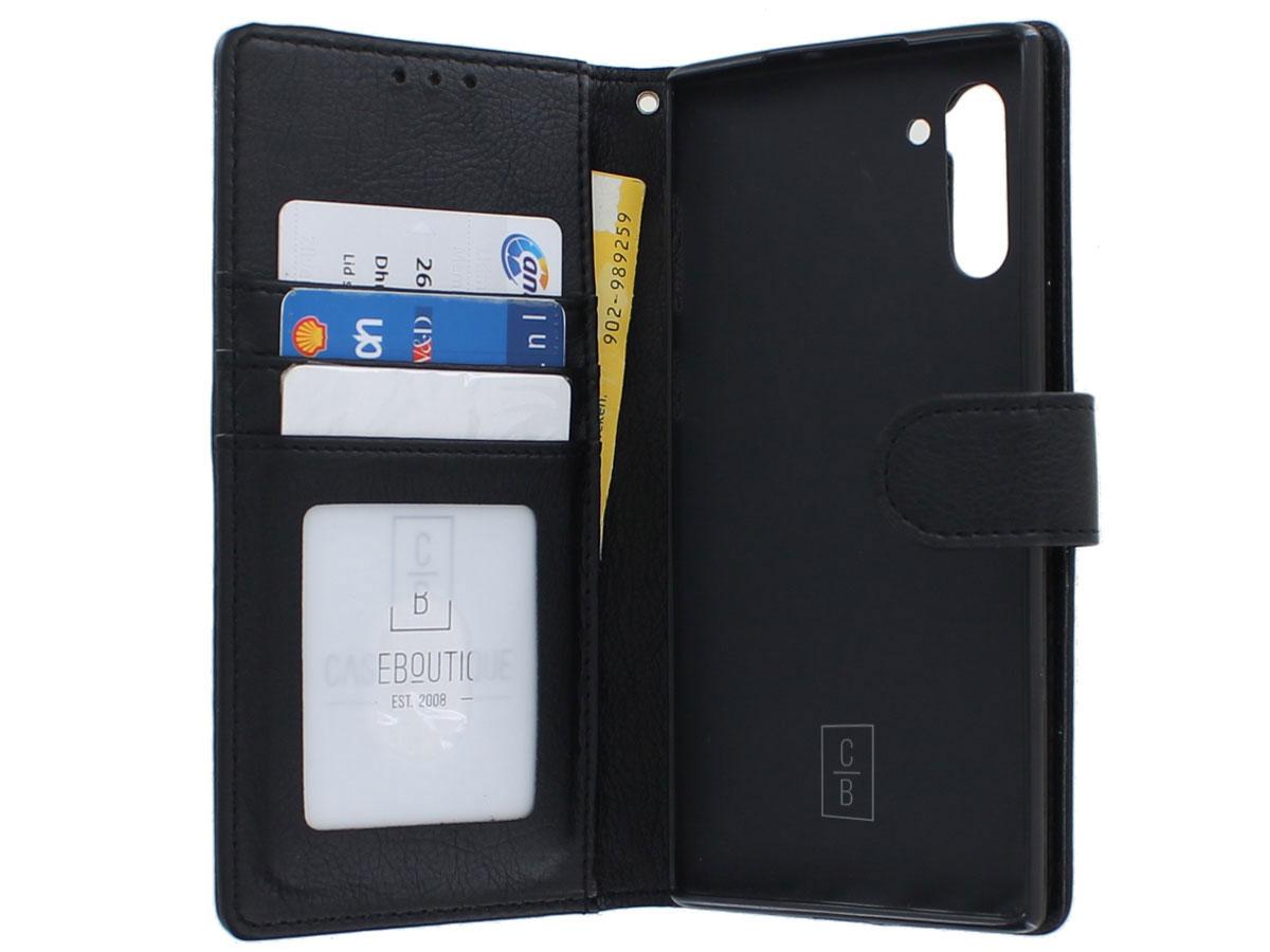 Classic Wallet BookCase Zwart - Samsung Galaxy Note 10 hoesje