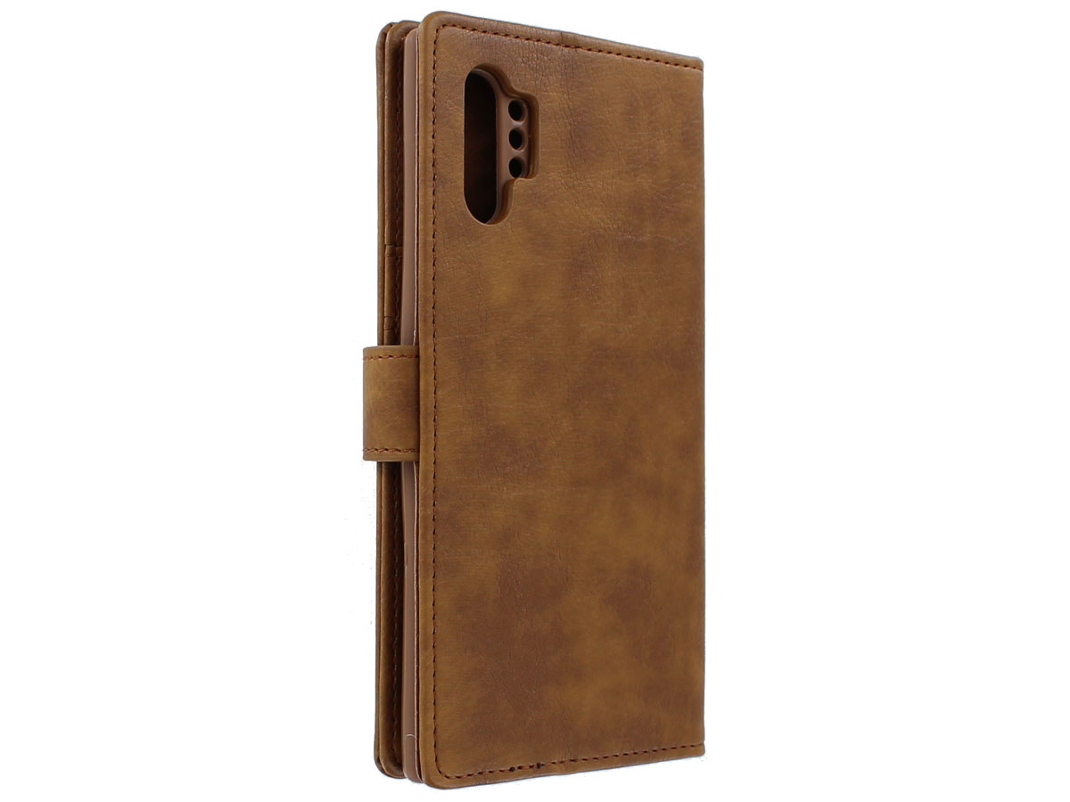Classic Wallet BookCase Bruin - Samsung Galaxy Note 10+ hoesje