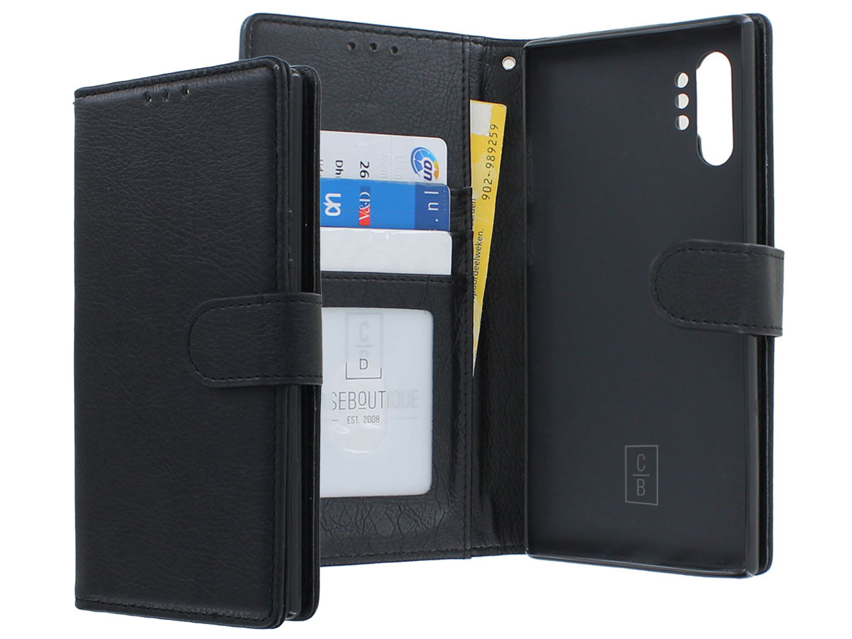 Classic Wallet BookCase Zwart - Samsung Galaxy Note 10+ hoesje