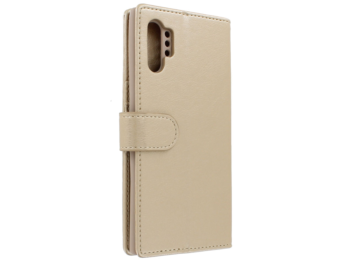 Book Case met Ritsvakje Goud - Samsung Galaxy Note 10+ hoesje