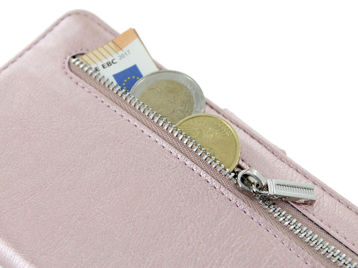 Book Case met Ritsvakje Rosé - Samsung Galaxy Note 10+ hoesje