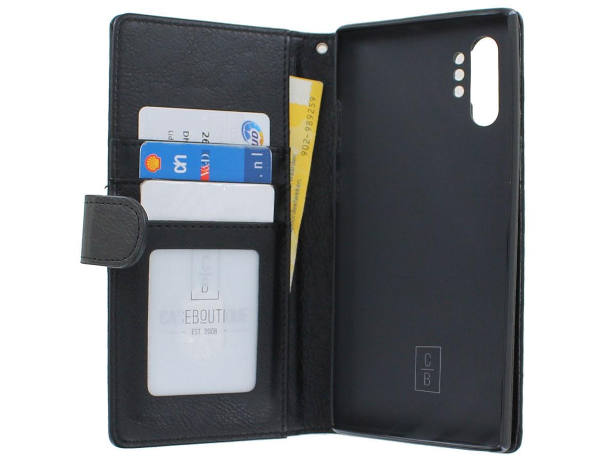 Book Case met Ritsvakje Zwart - Samsung Galaxy Note 10+ hoesje