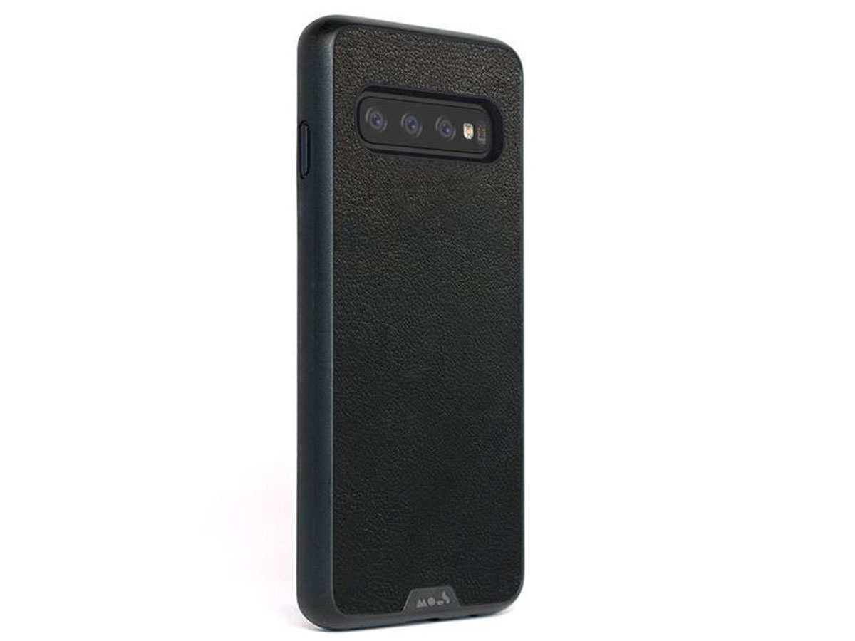 Mous Limitless 2.0 Leather Case - Samsung Galaxy S10+ hoesje Zwart