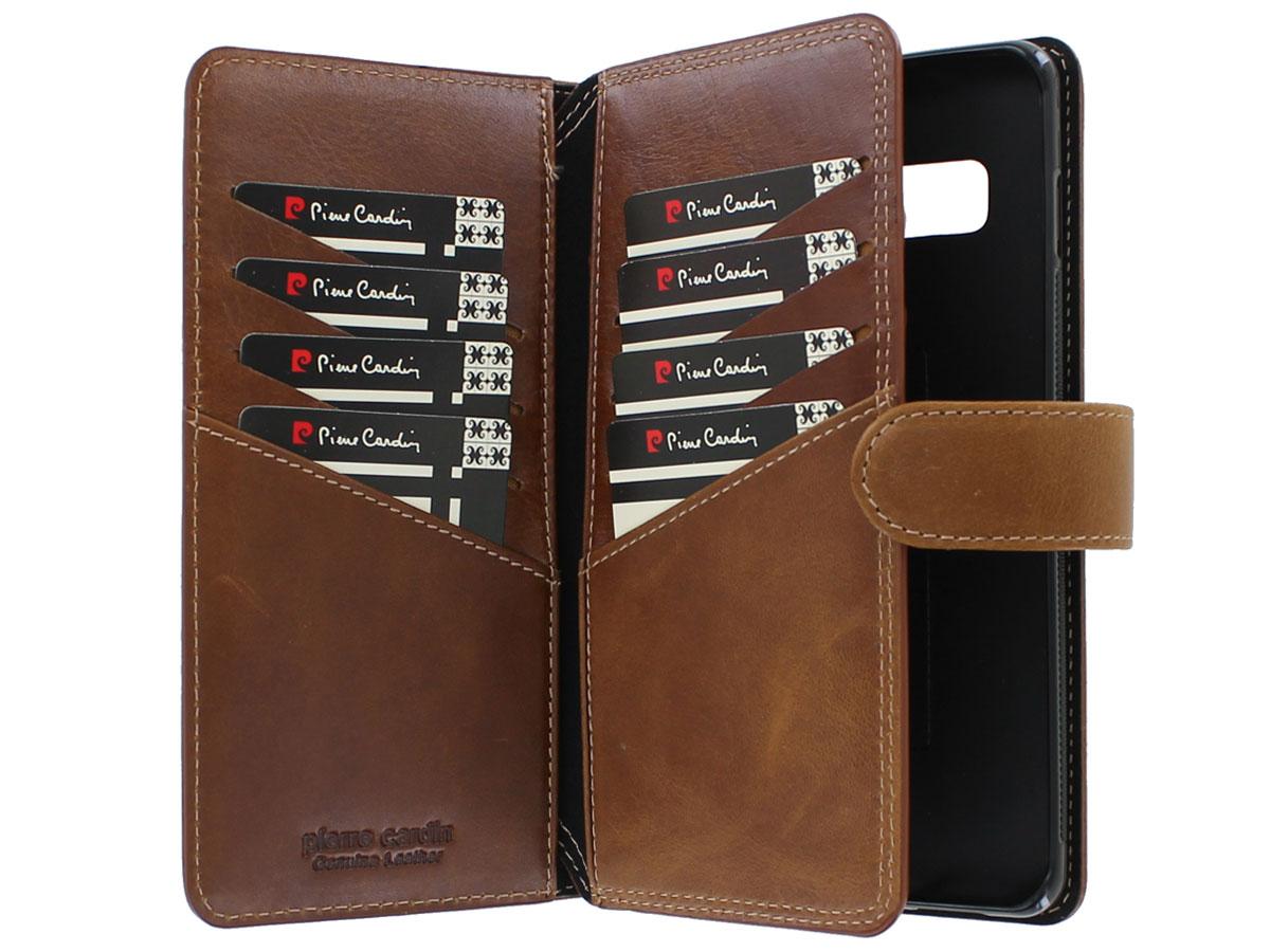 Pierre Cardin True Wallet Case Cognac Leer - Galaxy S10+ hoesje