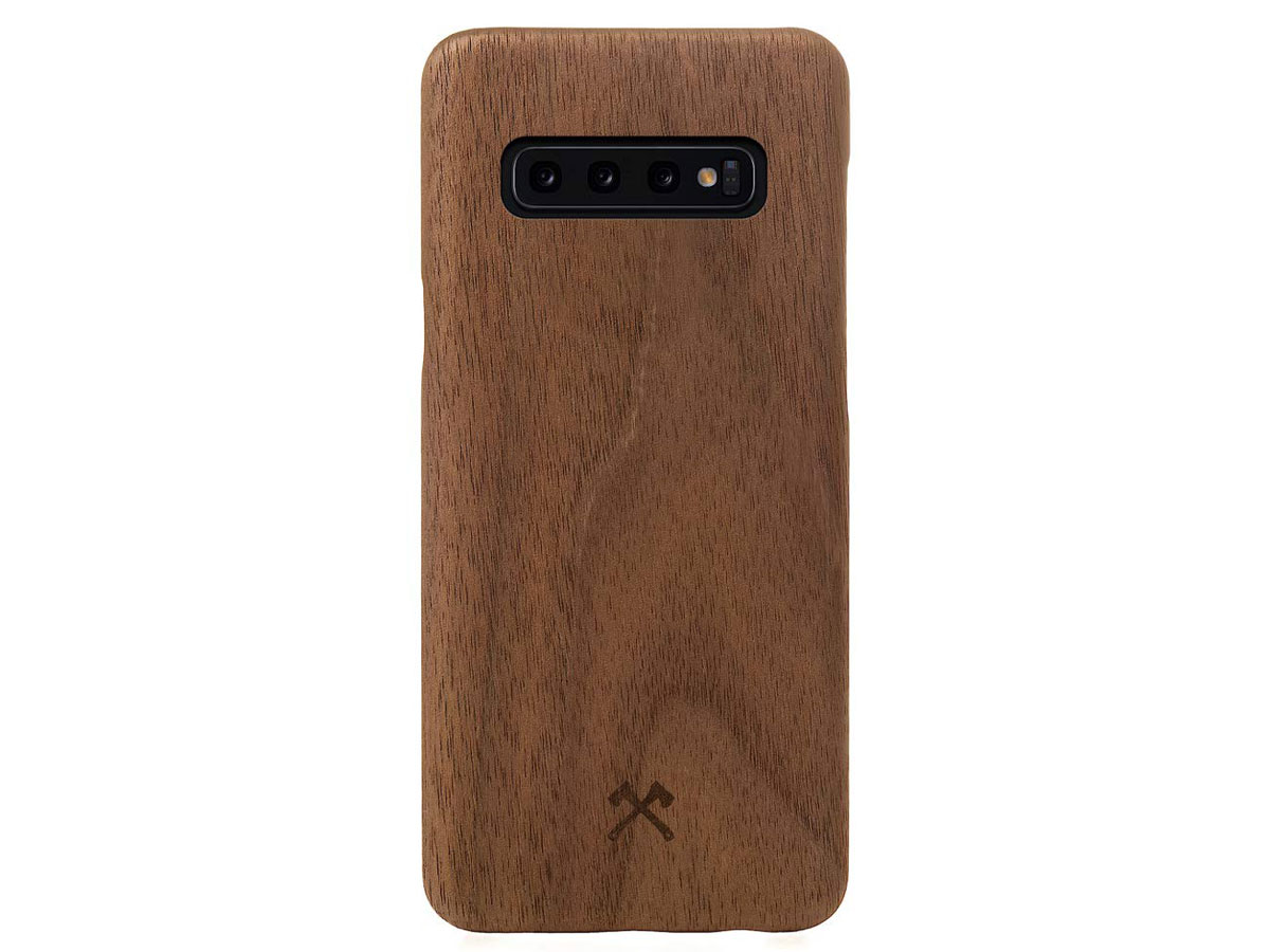 Woodcessories EcoCase Slim Walnut - Samsung Galaxy S10+ hoesje
