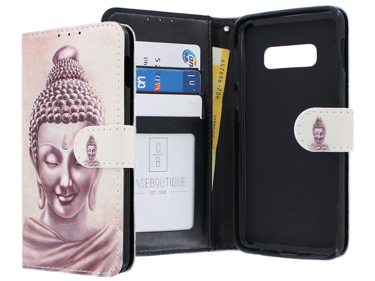 Boeddha Bookcase - Samsung Galaxy S10e hoesje Goud